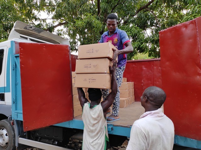 Final delivery of the New Testaments in Benin